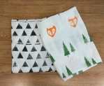 Hand stamped swaddle blankets